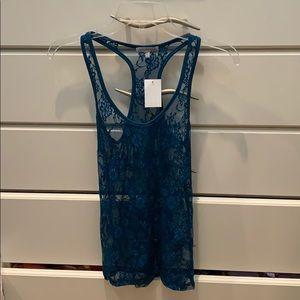 NEW!! Aqua/blue lace tank